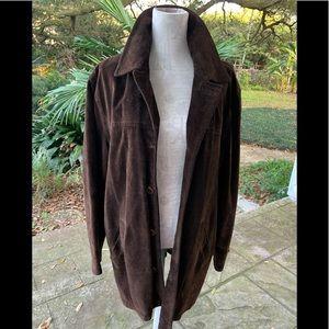 JCrew Leather Suede Mens Coat Jacket